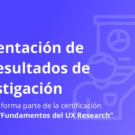 5. Presentación de los resultados de investigación